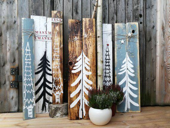 Holzschilder Weihnachten Holz Shabby Vintage Weihnachtsdeko Weihnachtsdekoration…
