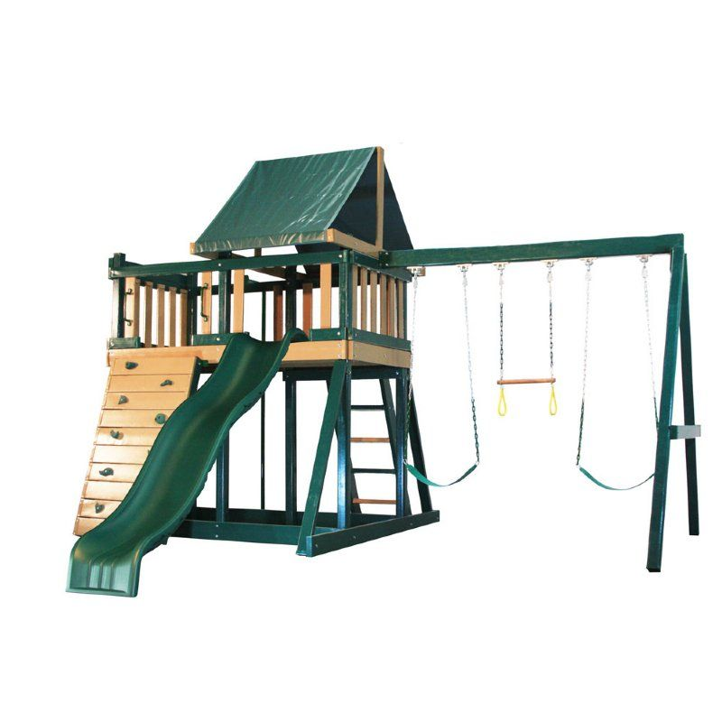 Monkey Play Set 1 Green Brown By Congo Swing Sets Buy Swing Sets