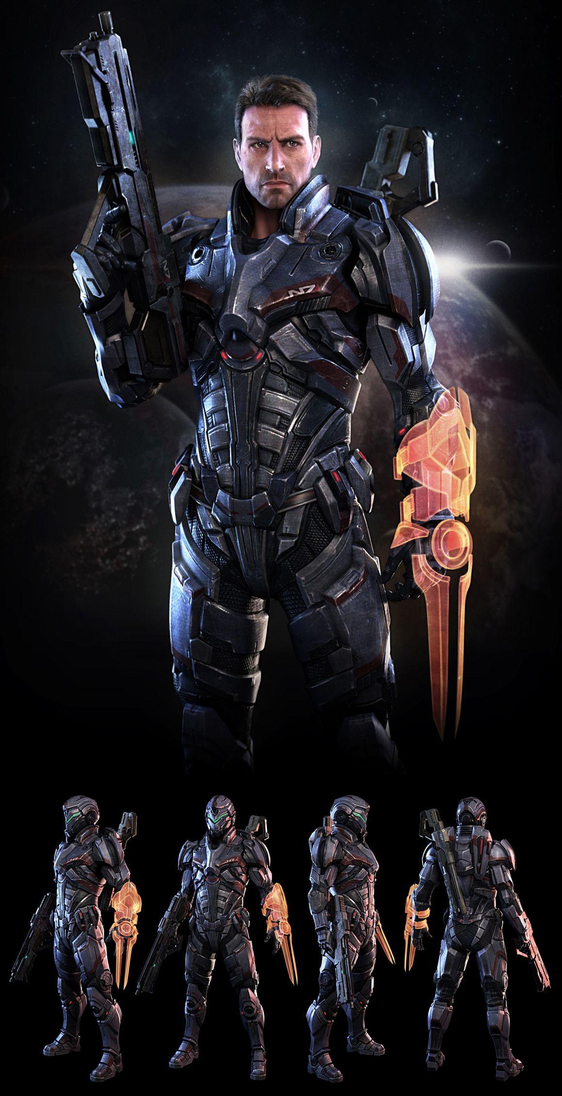 Mass Effect N7 Soldier  Fan Art  By 3Dsquid In 2019 -3031