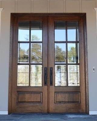 6-Lite True Divided Lite Double Entry Door (6/8 and 8/0 Sizes) #doublefrontentrydoors