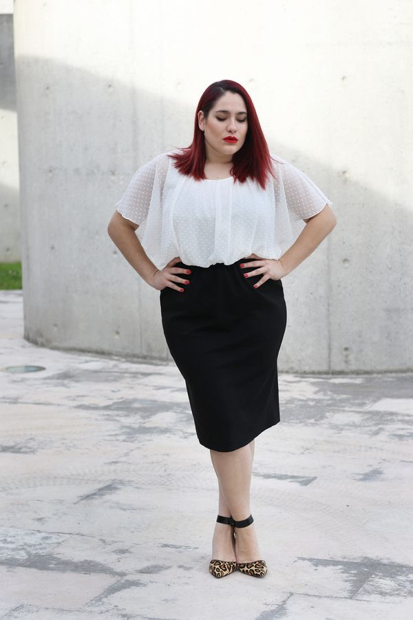 Look of the day: Black and white