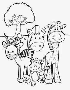 Desenhos De Safari Para Colorir E Imprimir Desenhos Para