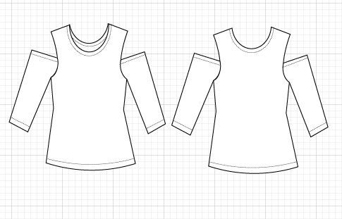 FREE SEWING PATTERN: The cold shoulder knit top - On the Cutting ...
