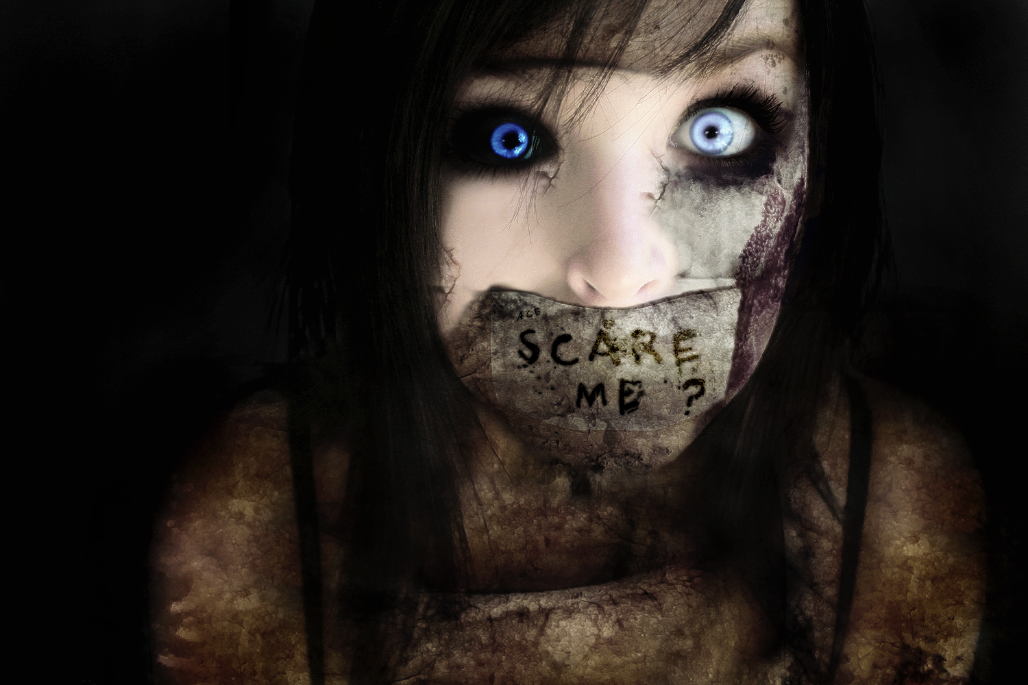deviantART Wallpaper Fear Girl by AceGraph on