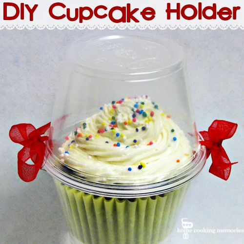 DIY Cupcake Holder -- easy, cheap, and CUTE Fun gift idea for someones birthday- add a candle on top!)