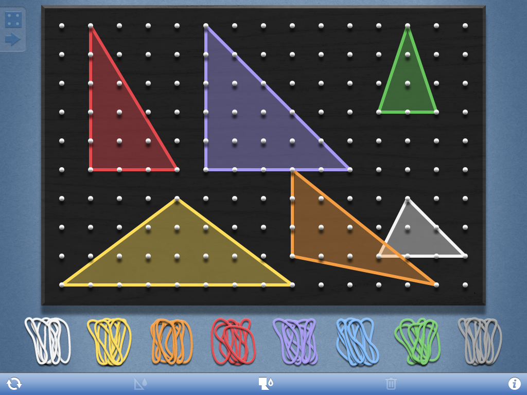 Geometry Lesson utilizes FREE Geoboard app to classify triangles ...