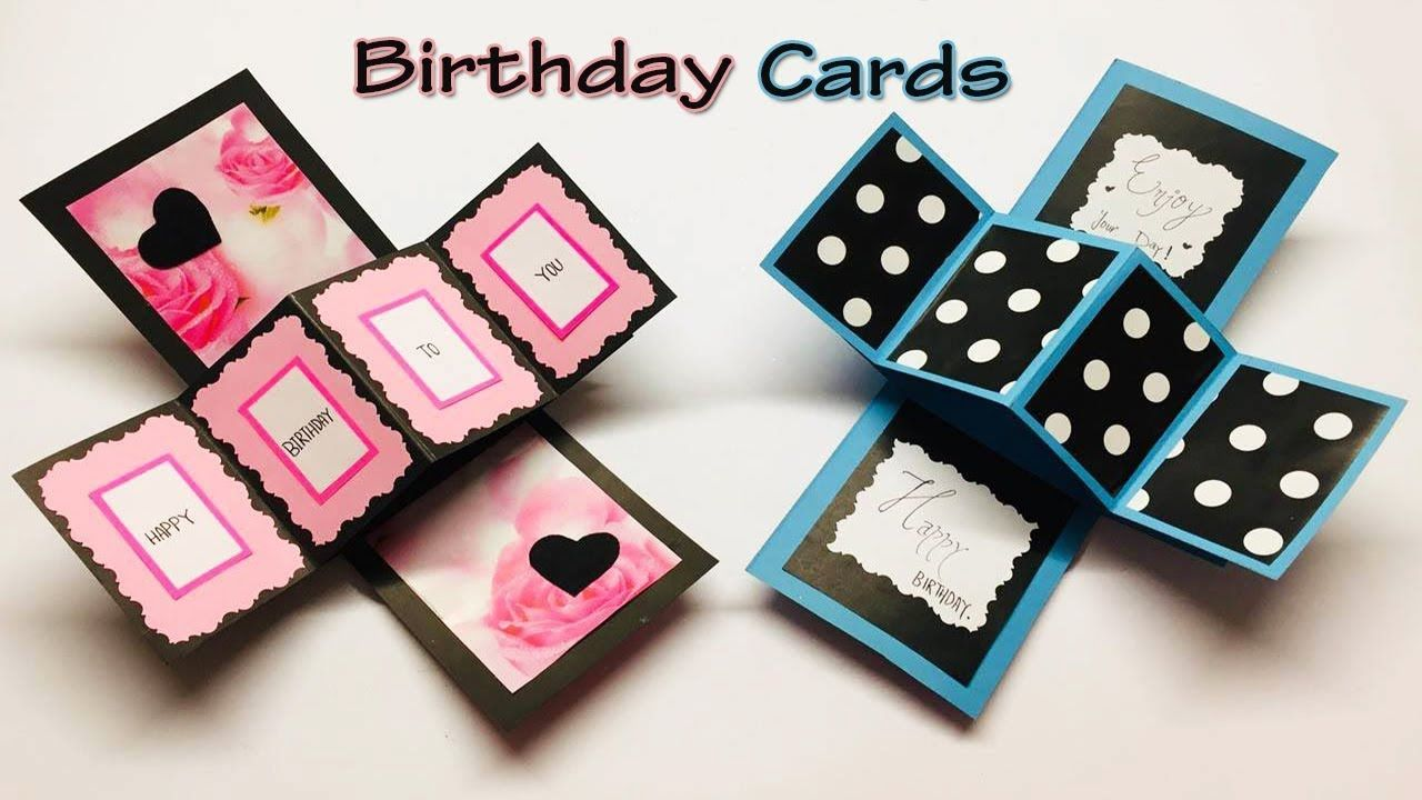 How To Make Beautiful Handmade Birthday Card New Happy Birthday Card I Birthday Cards Simple Birthday Cards Diy Birthday Scrapbook