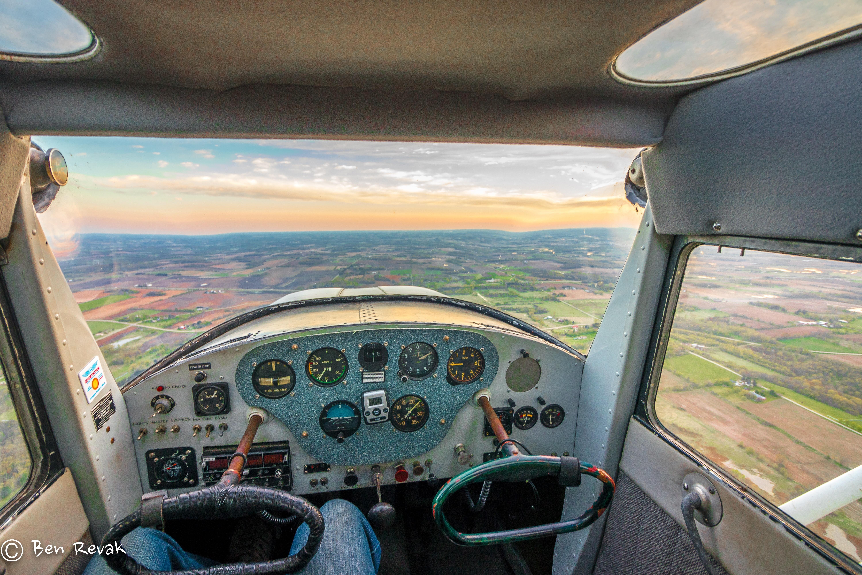 Sunrise in a 1947 Cessna 120   Cessna 120/140 Ideas   Airplane