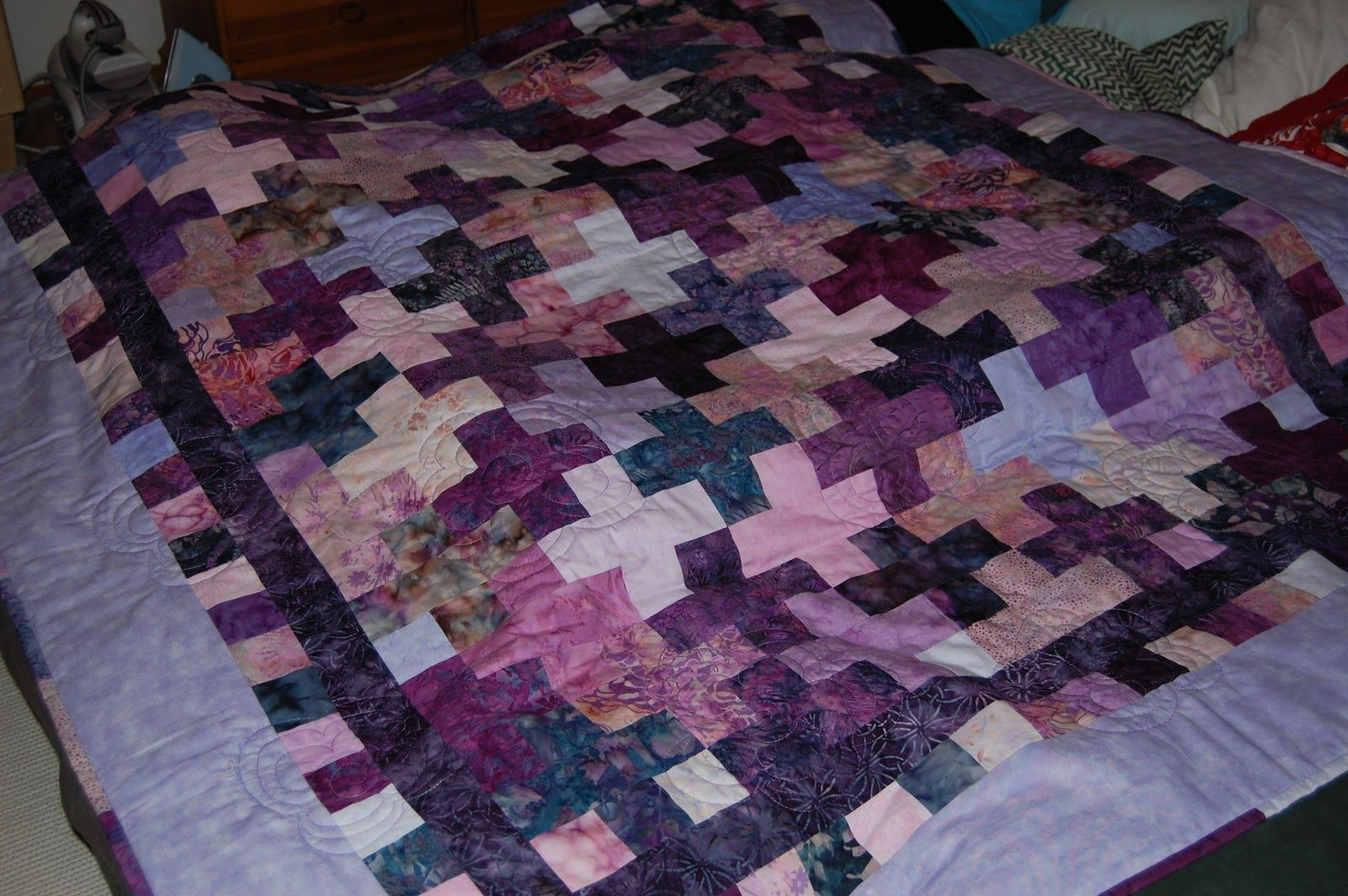 Jelly Roll Quilt. The quilt for my youngest son - every day he take it in his bed