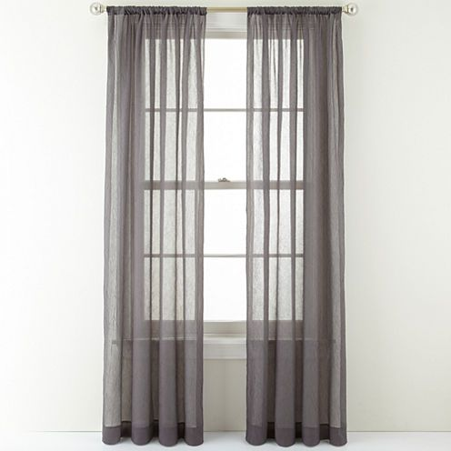 Buy Royal Velvet Crushed Voile Rod Pocket Curtain Panel Today At