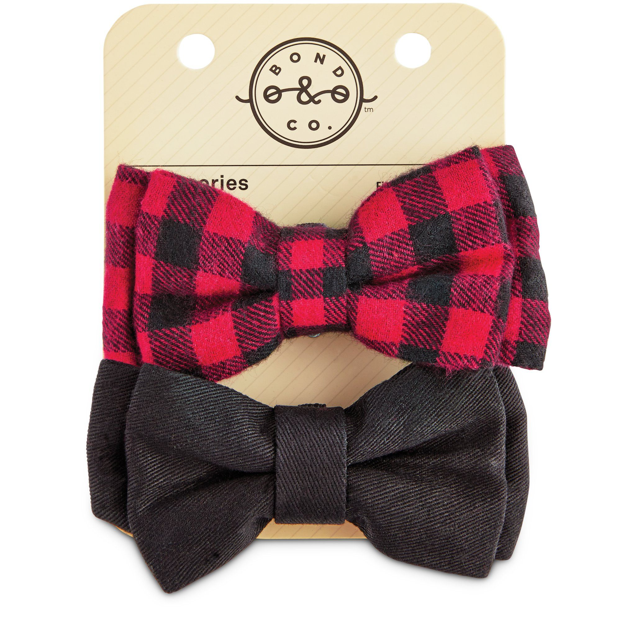 Bond Co Buffalo Check Dog Bowtie Set 2pk Ropa Para Perros Ropa Para Mascotas Accesorios Para Mascotas