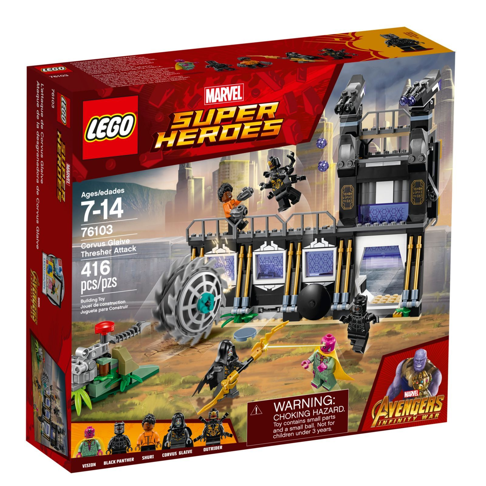Corvus Glaive Thresher Attack 76103 Lego Marvel Buy Online At The Official Lego Shop Ca Lego Marvel Super Heroes Marvel Avengers Movies Lego Marvel S Avengers