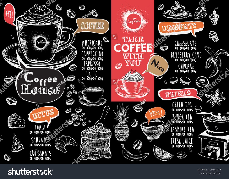 Coffee House Menu Restaurant Cafe Menu Template Design Food Flyer Sponsored Affiliate Menu Restaurant Coffee H Cafe Menu Coffee House Menu Restaurant