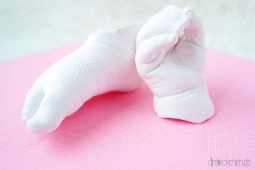 diy 3d babyabdruck mit gips selber machen diy baby pinterest. Black Bedroom Furniture Sets. Home Design Ideas