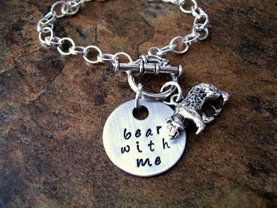 Personalized Jewelry Bear Jewelry Bear Bracelet by CharmAccents,