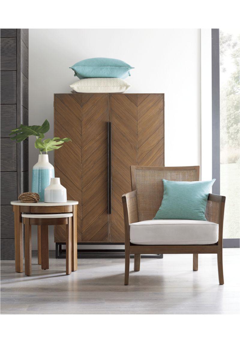 Blake Grey Wash Rattan Chair With Fabric Cushion Products