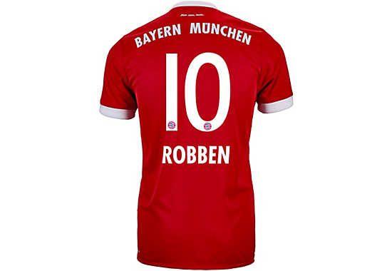 fc bayern kids shirt goalkeeper 1718 201718 adidas arjen robben bayern munich authentic home jersey.