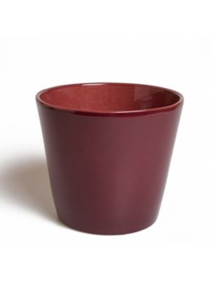 Bloempot,+bordeaux,+Ø+15,5+cm,+aardewerk #marsala #red #colour #pantone #myhomeshopping #flowers #garden #decoration #interior