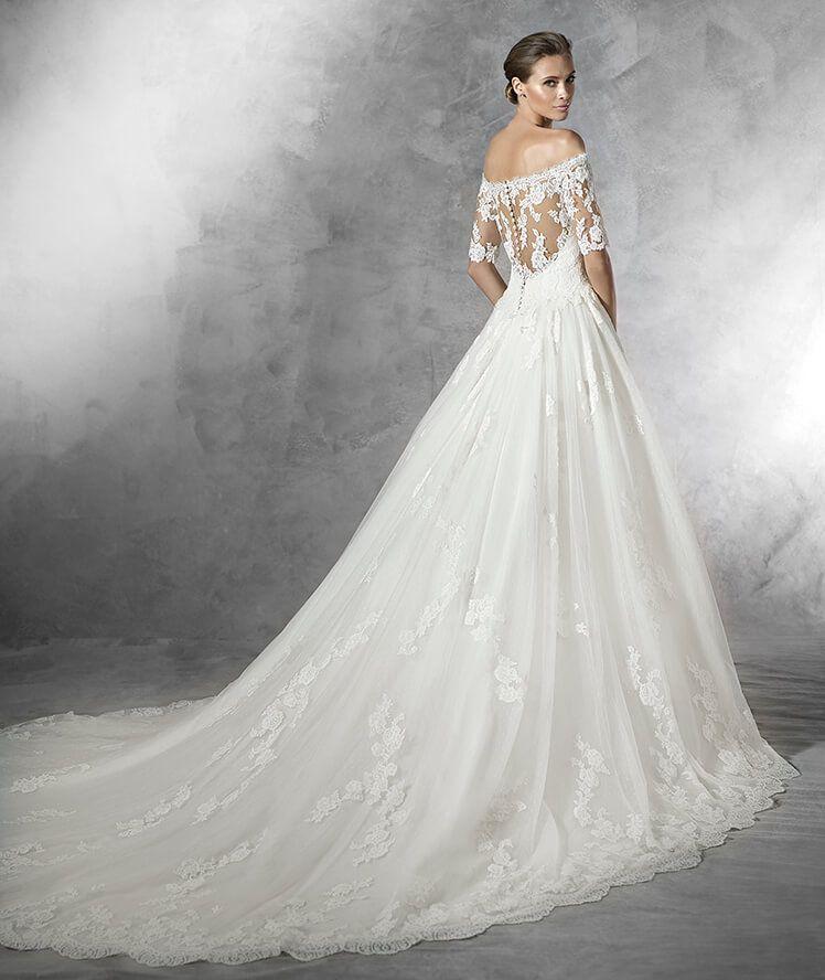 PLEASANT - Brautkleid aus Tüll mit tief angesetzter Taille | Vintage ...