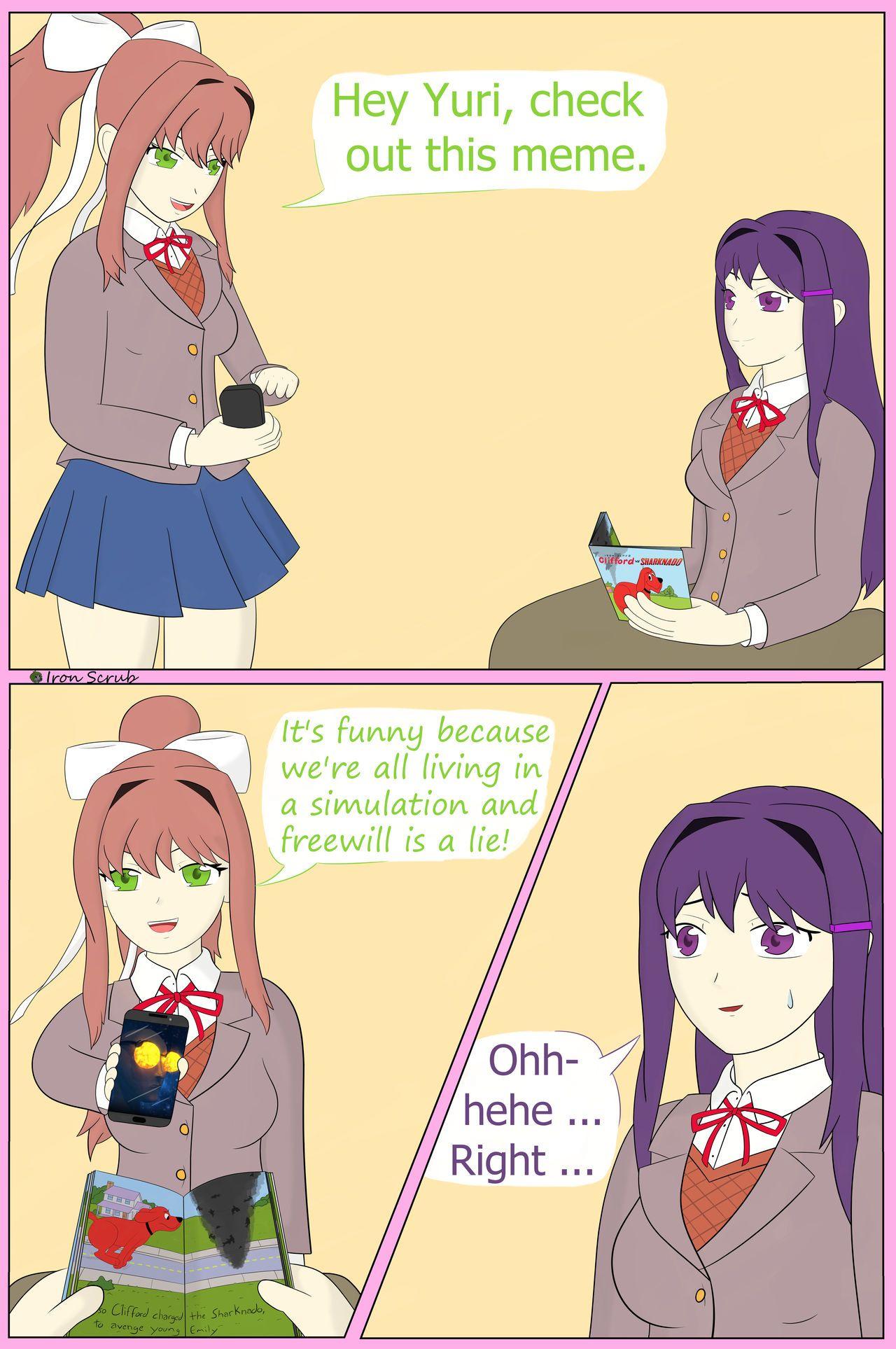 Monika GF (DDLC) - Doki Doki Literature Club Memes and Cheers