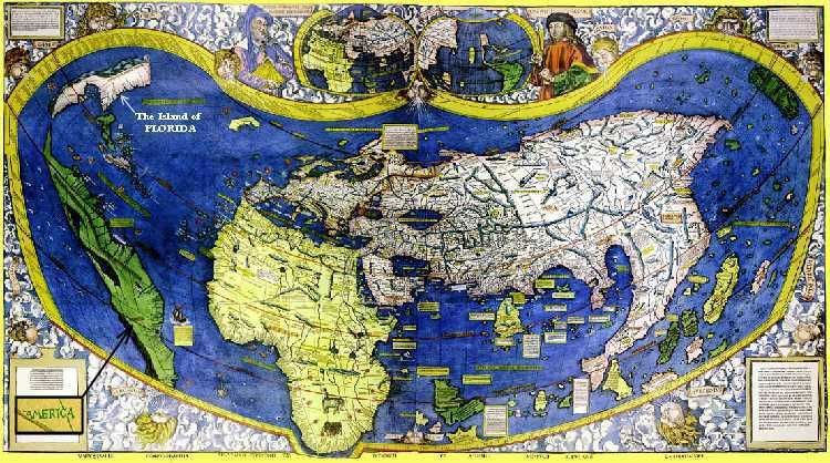 Map of the World 1507 This map by the German cartographer Martin - new world map political