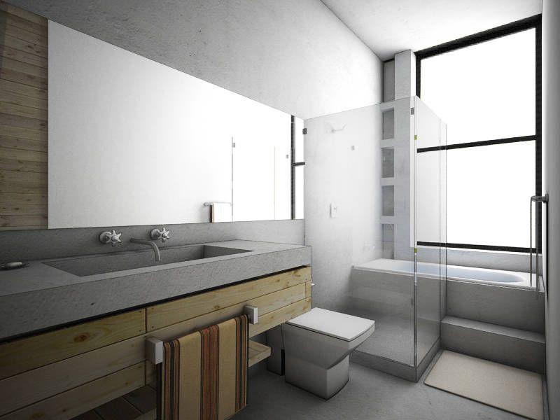 COATEPEC: Baños de estilo Industrial por gOO Arquitectos
