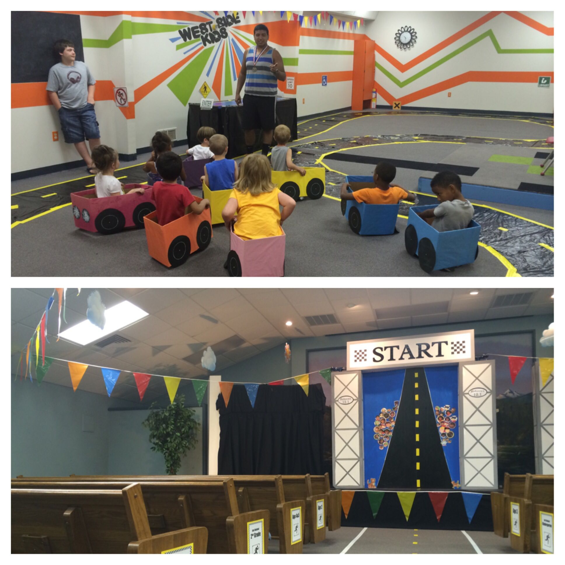 The Race Is On Vbs Road With Race Cars Car Themed Parties