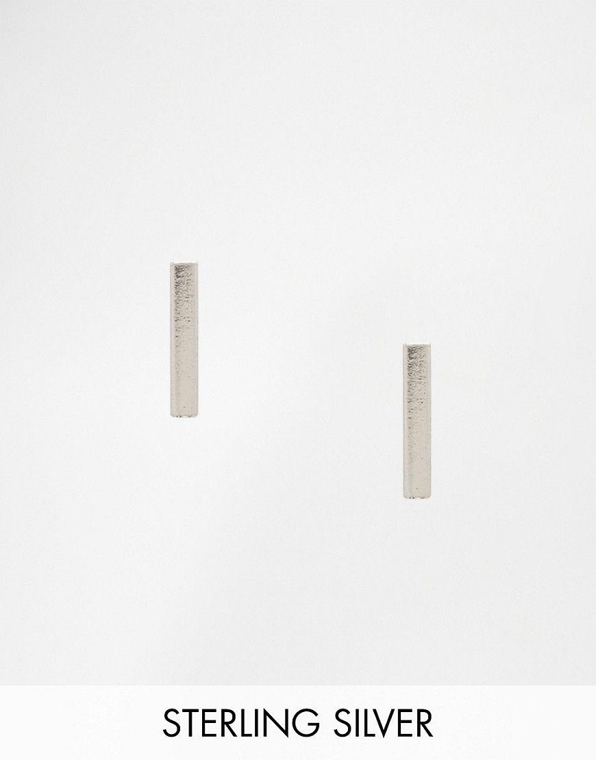 Immagine 1 di ASOS - Orecchini in argento sterling con barretta rigida