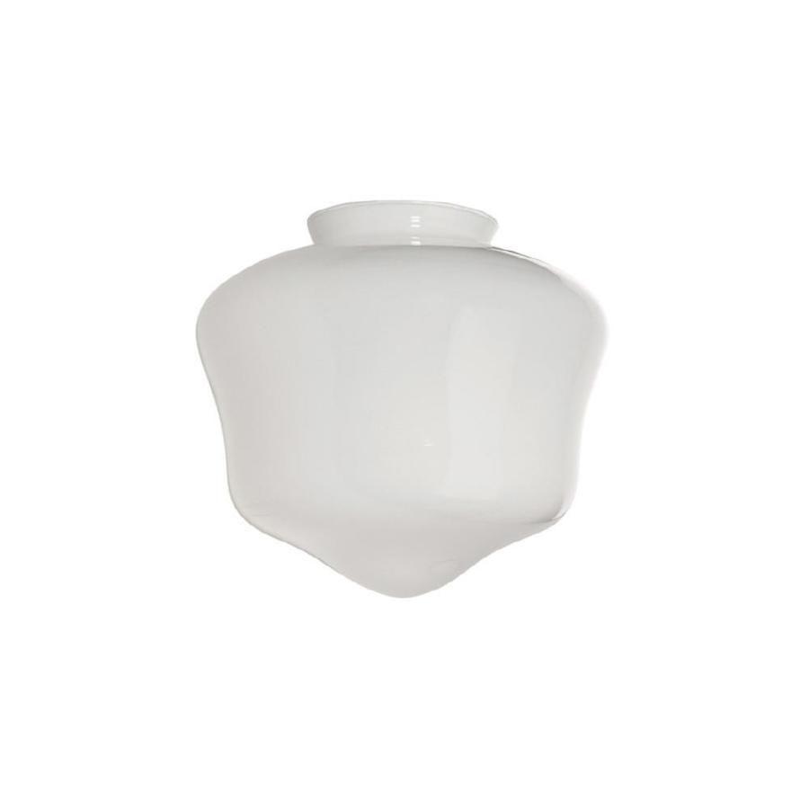 Litex 7 In H 7 In W White Schoolhouse Ceiling Fan Light