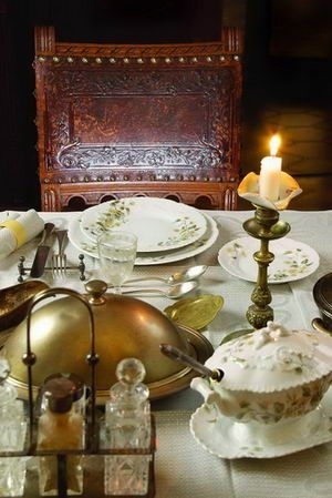 A traditional russian table makes an unusual table setting. From M ...