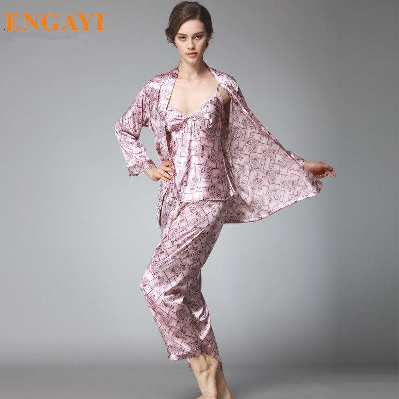 Woman · ENGAYI Brand Summer Women Silk Satin Pajamas Pyjama Sets Pijamas  Sexy Nightgown ... 57d5ab847