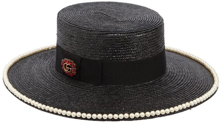 adaf8efb543f2 Straw Boater Hat W  Pearls  ShopStyle  MyShopStyle click for more  information or to. Gucci GiftsBoater HatMan ...