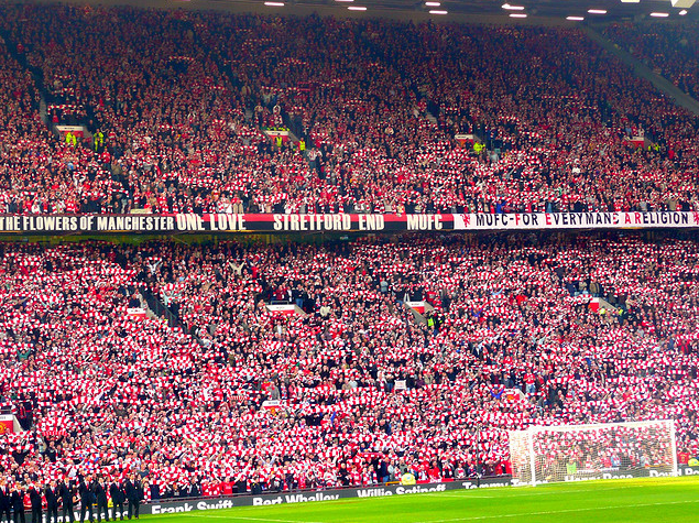 English Football Stadiums Iconic Stands Manchester United Stadium Manchester United Old Trafford English Football Stadiums