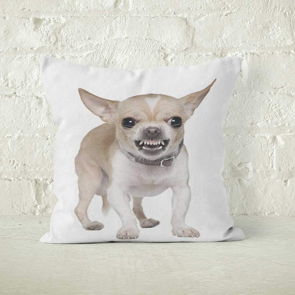 Amazon Com Front View Of Angry Chihuahua Growling Burlap Chihuahua