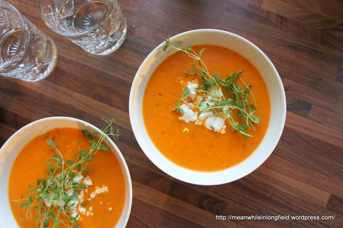 vuohenjuusto-tomaattikeitto