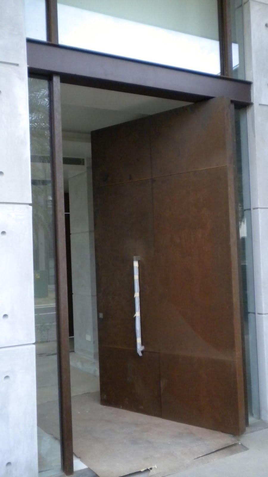 Corten Steel Designs And Engineering: Corten Doors And Wall By Newport