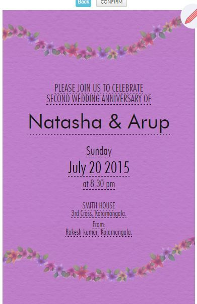 Nd Wedding Anniversary Invitation Card HttpsWwwGrouptableCom
