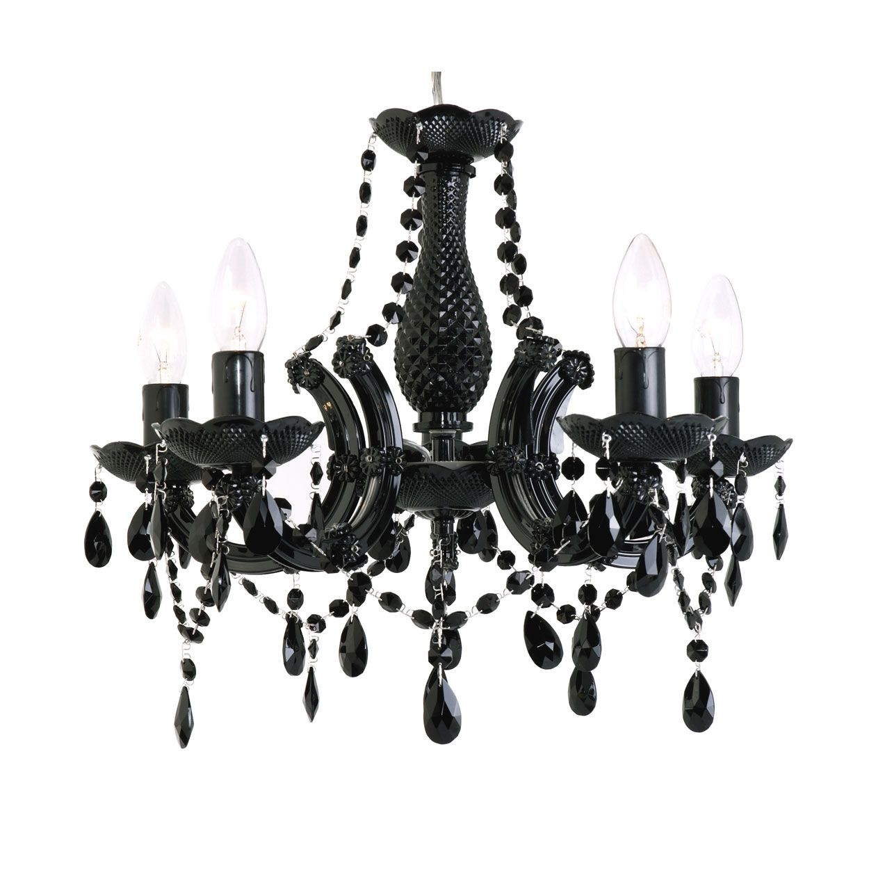 Black Crystal Chandelier Marie Therese 5 Lamp By Amazingchandeliers