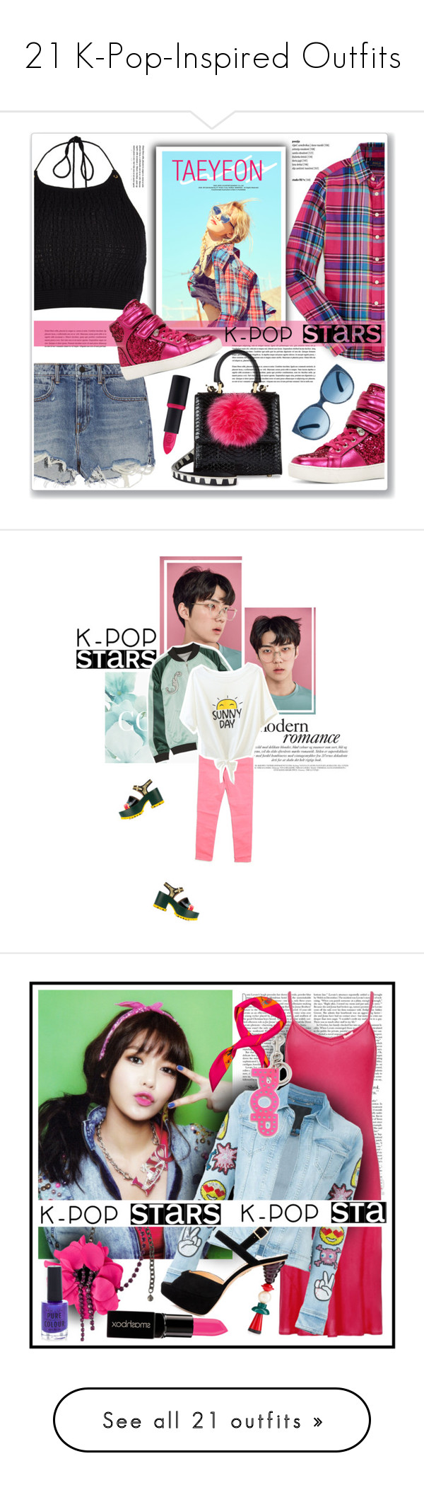 """21 K-Pop-Inspired Outfits"" by polyvore-editorial ❤ liked on Polyvore featuring kpop, River Island, Alexander Wang, ALDO, Les Petits Joueurs, Essence, contestentry, polyvoreeditorial, polyvorecontest and Samsung"