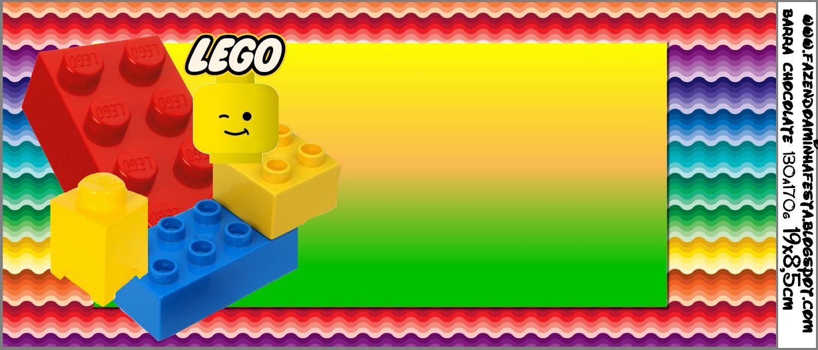 Lego Kit Completo Com Molduras Para Convites Rótulos Para