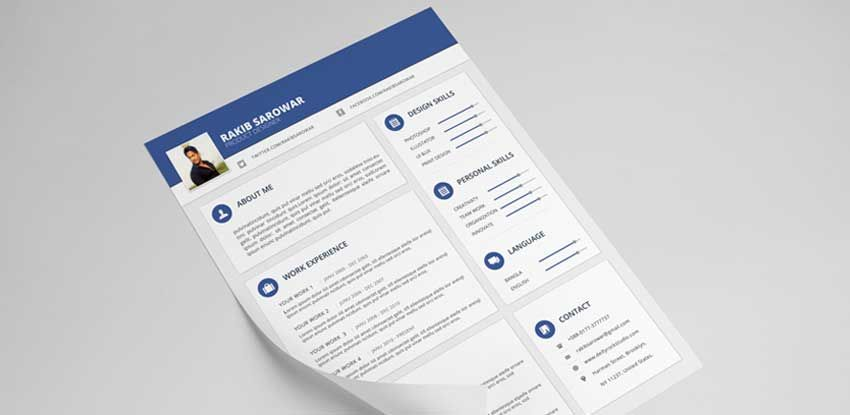 40 best free resume psd mockup templates 2017 cover