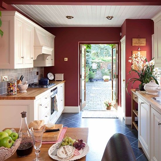 Red country kitchen | Red kitchen colour ideas | Colour | Design | PHOTO  GALLERY | Housetohome.co.uk