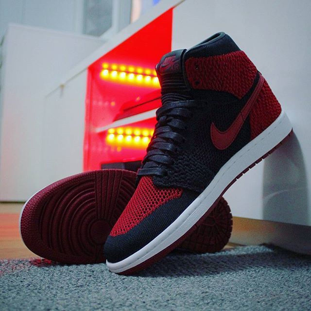 98143f21f9a3 ... channel link in  Go check out my Air Jordan 1 Retro High Flyknit  BannedBred 2017 on feet ...