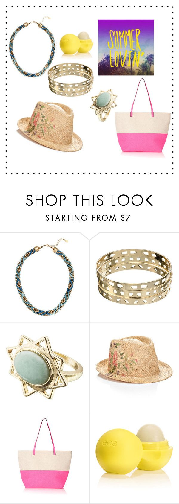 """""""High Summer"""" by accessorizeshop ❤ liked on Polyvore featuring Accessorize, Monsoon and Eos"""