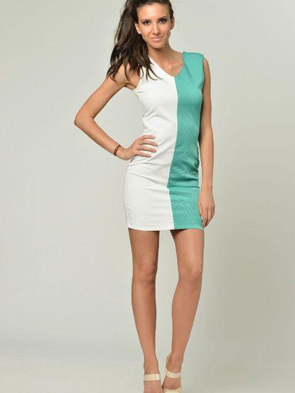 bcd6d98c0044 Dámske šaty NERO SU BIANCO - biela-zelená