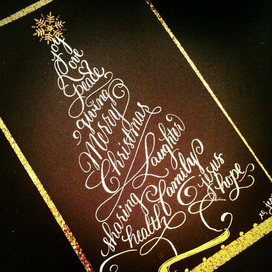 Calligraphy Christmas Envelope Calligraphy By Jennifer