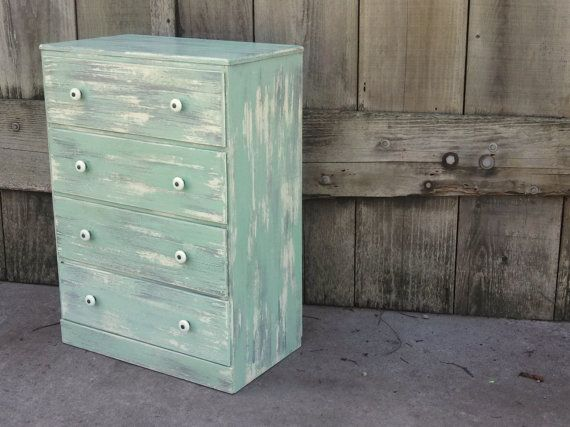 Small Shabby Chic Dresser Bedroom Painted Rustic Decor Man