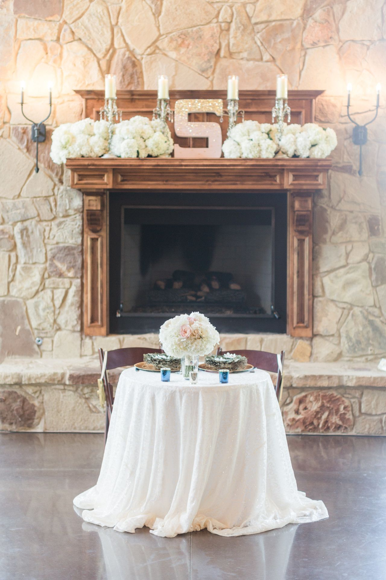Wedding decorations luxury  wedding venue fireplace decor ideas  fireplace mantle wedding decor