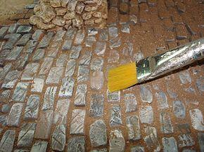 Tuto comment faire un sol pav cr che de no l pinterest pav s comment faire et tuto - Comment fabriquer une creche de noel ...
