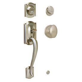Merveilleux Shop Schlage Camelot Satin Nickel Residential Single Lock Door Handleset At  Lowes.com Front Door